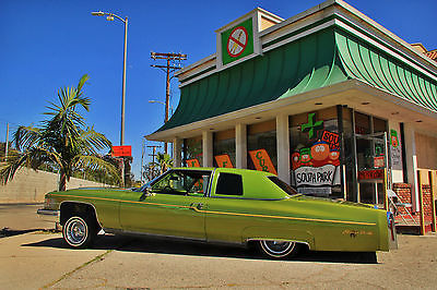 Cadillac : DeVille Custom THE ONE AND ONLY 1974 CADILLAC SNOOP DEVILLE LOWRIDER - SNOOP DOGG'S LOW RIDER