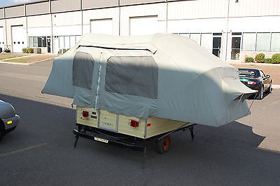 1969 COX CADET VINTAGE POP UP FOLDING CAMPER TRAILER CAMPING ORIGINAL CONDITION