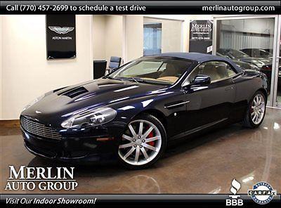 Aston Martin : DB9 2dr Volante Automatic Stunning Navy Blue over Tan