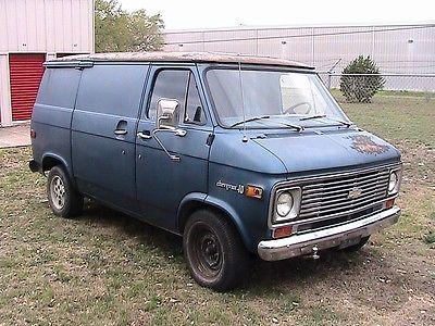 Chevrolet : G20 Van Cargo Van 1975 chevy shorty g 10 van