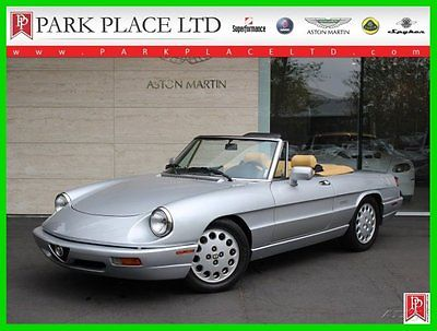 Alfa Romeo : Spider Veloce 1991 alfa romeo spider veloce 44 k miles outstanding condtion