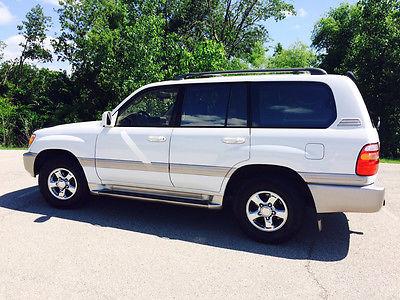 Toyota : Land Cruiser Base Sport Utility 4-Door 2001 toyota land cruiser white tan leather 161 k low miles great condition