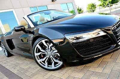 Audi : R8 V10 5.2L FSI Quattro Spyder LOADED 14 r 8 v 10 full fine nappa leather package carbon sigma decorative inlays nr