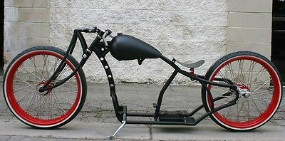 Custom Built Motorcycles : Bobber MMW SCHWINN SUPER DUPER  GIRDER  26,26  BOARDTRACK RACER WITH WHITEWALLS