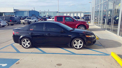 Acura : TL tl with navigation 2005 acura tl black with navigation tan leather sunroof bluetooth clean titl