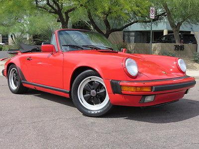 Porsche : 911 Cabriolet 1988 porsche 911 cabriolet 3.2 l g 50 5 speed 14 options custom sound 2 owner