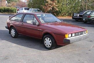 Volkswagen : Scirocco 1986 burgundy scirocco mk 2