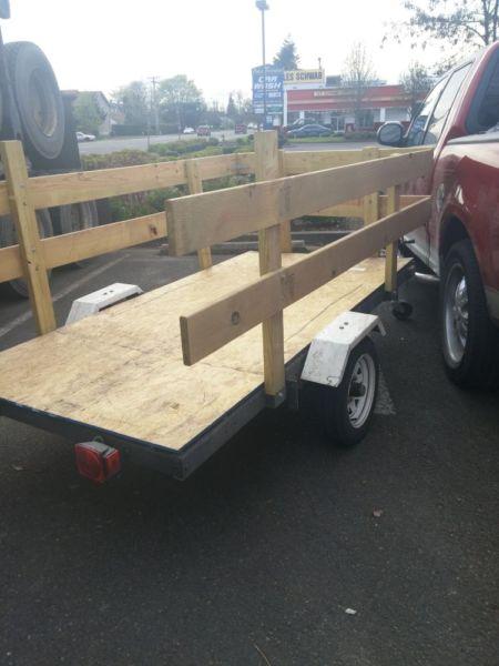 4x8 utility dump trailer steel frame.