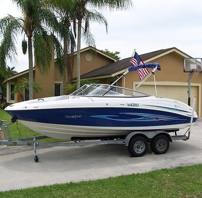 Blue bimini top boats for sale for Yamaha sx210 boat cover
