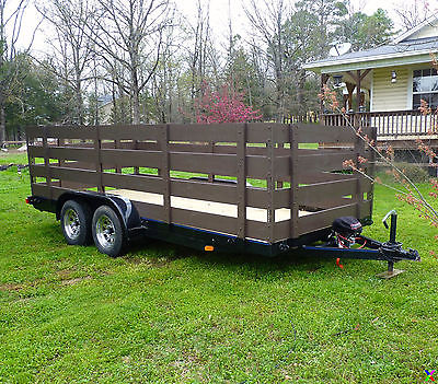 CAR TRAILER CARGO TRAILER UTILITY TRAILER, WINCH, BUCKBOARDS, REAR OR SIDE LOAD!