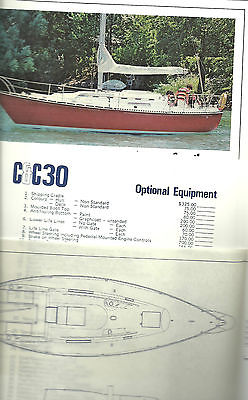 Sailboat Brochures from 70's and 80's - mostly Canadian