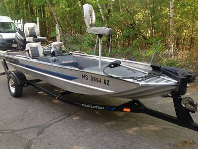 1991 bass tracker 17' aluminum 1998 Johnson 50hp motor 1991 tracker trailer