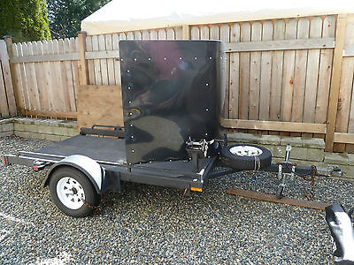 Trailer for ATV/Motorcycle, Steel construction, loading ramps not necessary