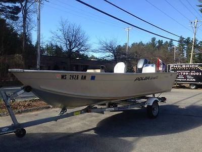 2004 Polar Kraft 15' open aluminum 06 trailer 06 Yamaha 15hp ready for the lake