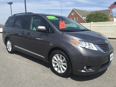 Toyota : Sienna XLE Leather nav moon roof AWD 4wd 4x4 power Gray camera