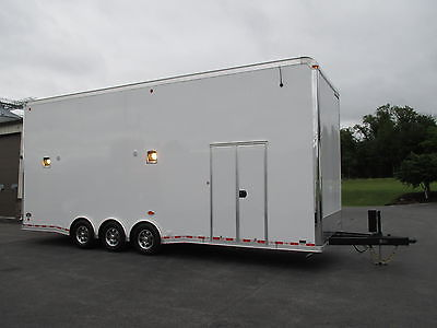 NEW 15 UNITED 8.5' X 28' STACKER DRAGSTER DRAG CAR RACE TRAILER W/ LIFT