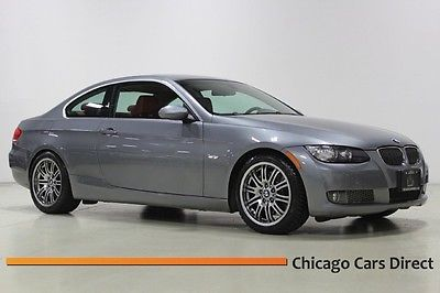 BMW : 3-Series 335i Coupe 07 335 i coupe premium heated seats grey red leather low miles rare 18 m 3 wheels