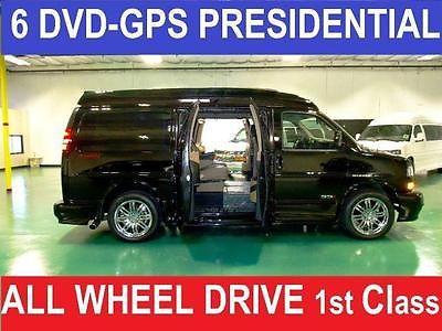 GMC : Savana MAJESTIC SSX -AWD PRESIDENTIAL First Class Presidential SE, 6DVD,GPS,RVC,CHROME, AWD Custom Conversion Van