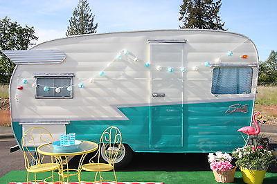 Restored 1959 Shasta Airflyte travel trailer canned ham camper glamper