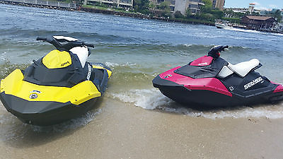 Pair of 2014 Sea-Doo Spark Jet SKIs WITH TRAILER - ONLY 52 HOURS!!