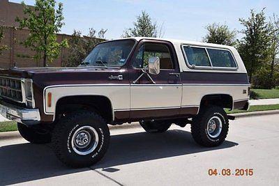 GMC : Jimmy High Sierra 4x4 1979 gmc pickup truck 136000 miles 400 small block 4 wd automatic leather