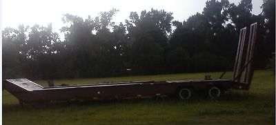 1987 35 Ton Trail King Lowboy with 20 Ton Hydraulic Winch and Hydraulic Ramps
