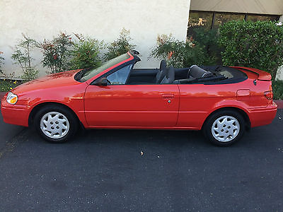 Toyota : Paseo CONVERTIBLE  RARE CLASSIC CONVERTIBLE PASEO SOUTHERN CALIFORNIA GARAGED DROP TOP RED BEAUTY