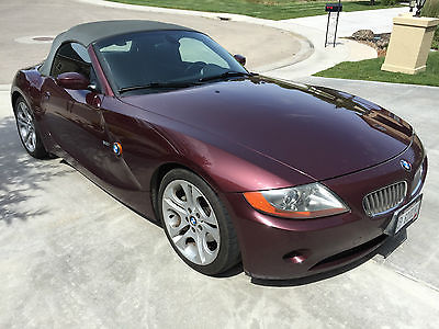 BMW : Z4 3.0i Convertible 2-Door 2003 maroon bmw z 4 convertable one owner clean carfax 112 k mi