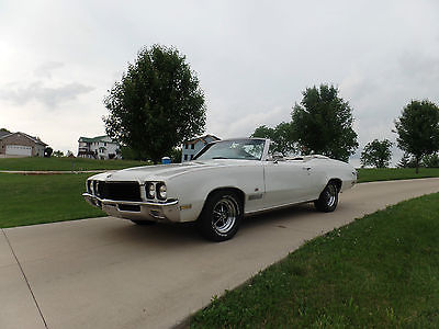 Buick : Skylark SKYLARK 1971 buick skylark custom convertible rare color combo low production rag top, 1