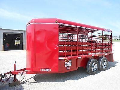 2014 Neckover 6x16 Bumper Pull Livestock Trailer