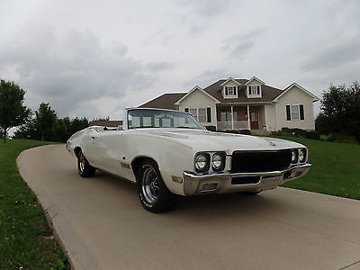 Buick : Skylark SKYLARK 1971 buick skylark custom convertible rare color combo low production rag top, 2