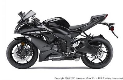 Kawasaki : Other ZR6R 2013 kawasaki zx 6 r ninja 600 sportbike new black blowout sale