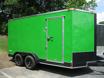 New 2015 7x14 V-NOSE Enclosed Trailer with EXTRA HEIGHT