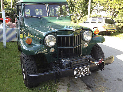 Willys : Wagon restored 1961 willys jeep wagon green pto winch good rubber runs like a top