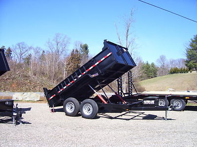 Bumper Pull Dump Trailer for Sale 83 x 12', 12,000 GVW **IN STOCK**