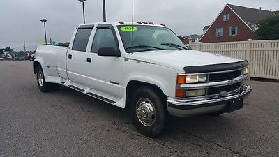 Chevrolet : C/K Pickup 3500 3500 c k duly 4 x 4 truck tow haul pull auto 4 door 4 dr 4 wd white chevy