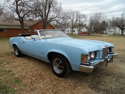 Mercury : Cougar White 1972 cougar convertible