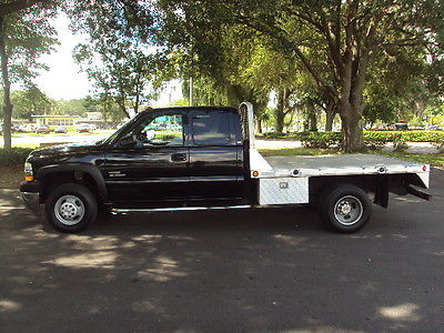 Chevrolet : C/K Pickup 3500 LS 02 3500 hd diamond plate flat bed goose neck duramax low miles priced to sell