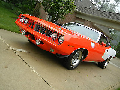 Plymouth : Barracuda Cuda Highly Documented 1971 Plymouth Cuda with Hemi upgrade and broadcast sheets