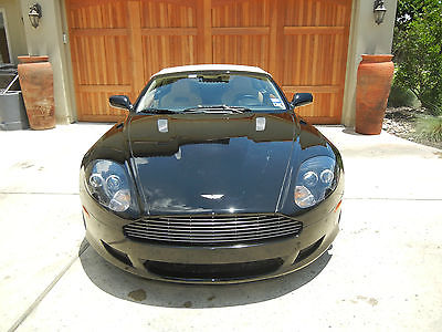 Aston Martin : DB9 Volante JET BLACK WITH TAN INTERIOR, BAMBOO WOOD, EXCELLENT CONDITION!
