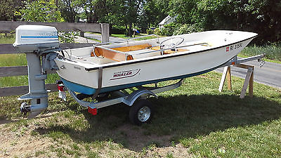 1982 13-foot Boston Whaler with 35hp Evinrude engine