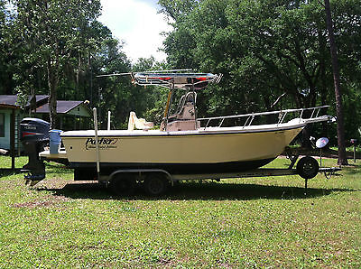 01 Parker BlueWater Edition Center Console Yamaha Z300 Tandem Axle Alum Trailer
