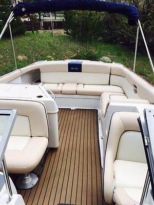 Chris Craft Launch 28 Bowrider Navy White Twin Engine Runabout Ski Yacht Fresh