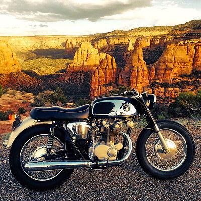 Honda : CB 1966 honda cb 450 black bomber cafe racer vintage race bike motorcycle