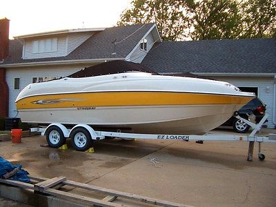 Stingray 23 Foot High Performance Deck Boat - 270HP Volvo Pento I/O