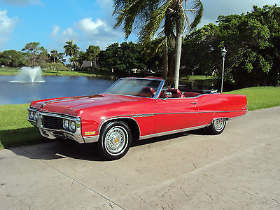 Buick : Electra 225 Custom Convertible CPE Convertible CPE RED- Original Owner meticulously maintained and garaged