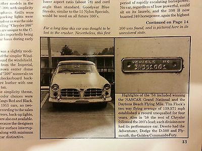 Chrysler : 300 Series 1955-3N551001-FIRST 300 BUILT! 1955 chrysler c 300 3 n 551001 first chrysler 300 built daytona race history docs
