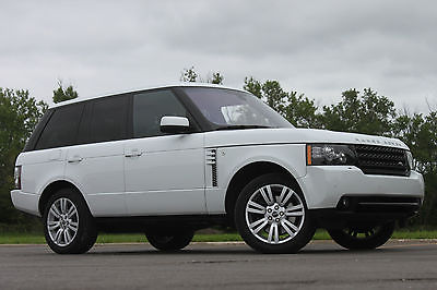 Land Rover : Range Rover HSE LUX 2012 land rover range rover white hse luxury low 28 k miles 1 owner