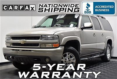 Chevrolet : Suburban Z71 4x4 Loaded Z71 4WD DVD Nationwide Shipping 5 Year Warranty Leather Sunroof 1500
