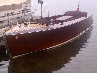 Vintage 1940 Hackercraft, Hacker Craft Speed Boat, Family Owned Since 1950's, EX
